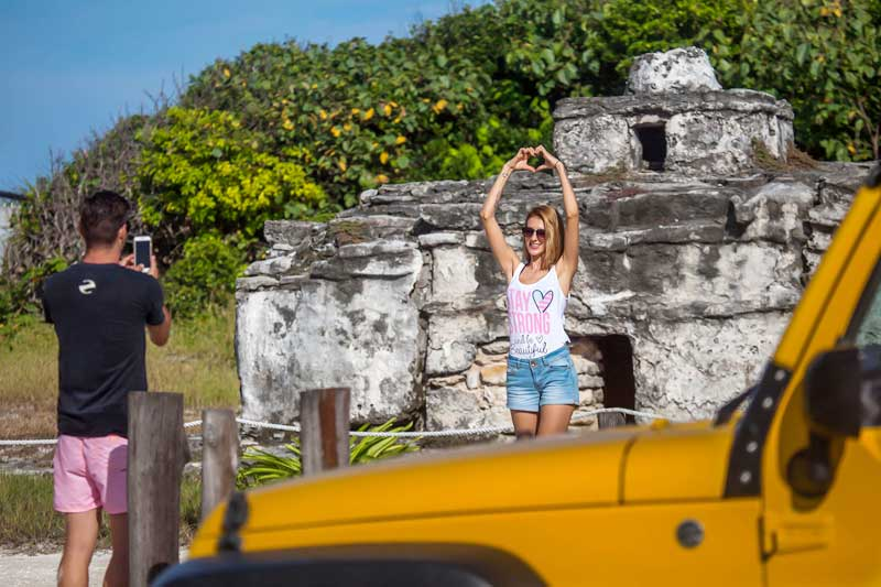 Mayan Heritage Island Tour in Cozumel on Jeep