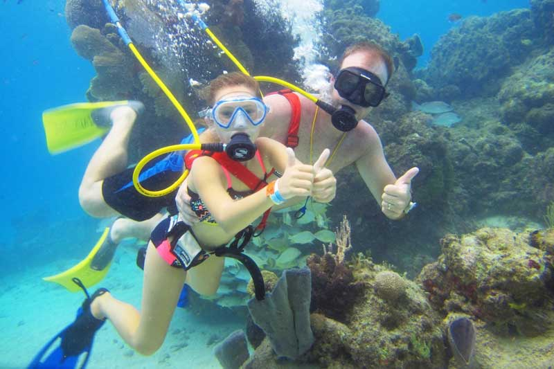 SNUBA activity in Cozumel